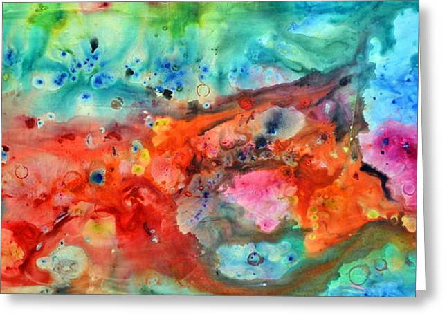 Recently Sold -  - Abstract Expression Greeting Cards - The Color Of Life Greeting Card by Ivan Guaderrama