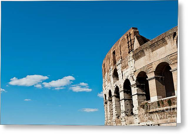 Outdoor Theater Greeting Cards - The Colosseum Greeting Card by Luis Alvarenga