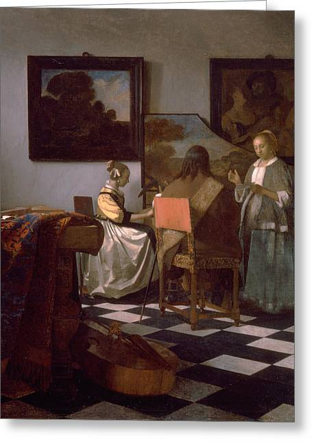 The Concert Greeting Card by Johannes Vermeer