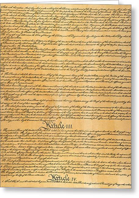 Constitutional Convention Greeting Cards - The Constitution, 1787 Greeting Card by Granger