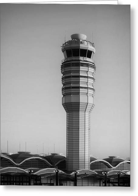 National Commercial Greeting Cards - The Control Tower at Ronald Reagan National Airport Greeting Card by Mountain Dreams