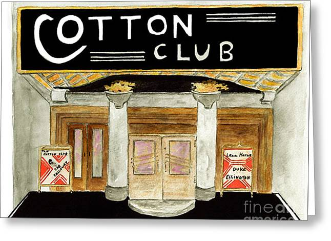 Cotton Club Greeting Cards - The Cotton Club Greeting Card by AFineLyne