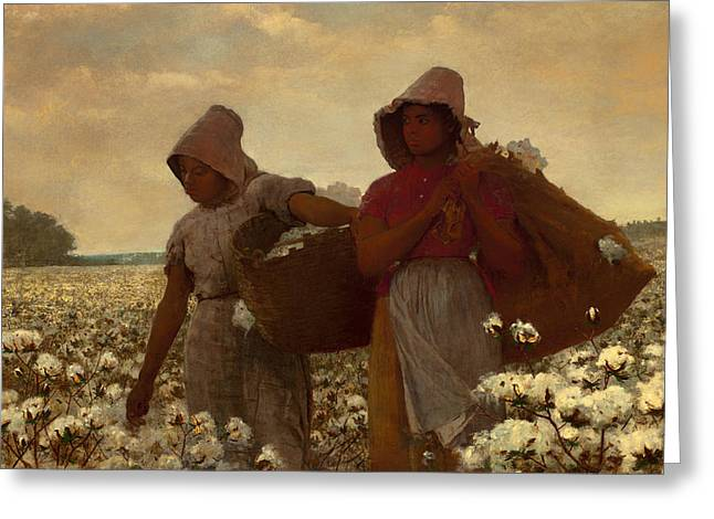 African-american Paintings Greeting Cards - The Cotton Pickers Greeting Card by Winslow Homer