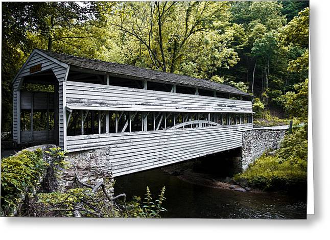 The Covered Bridge At Valley Forge Greeting Card by Bill Cannon
