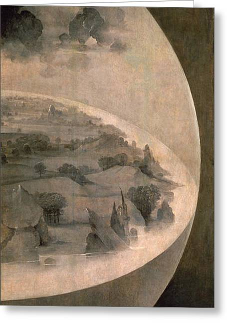 Side Panel Greeting Cards - The Creation of the World Greeting Card by Hieronymus Bosch
