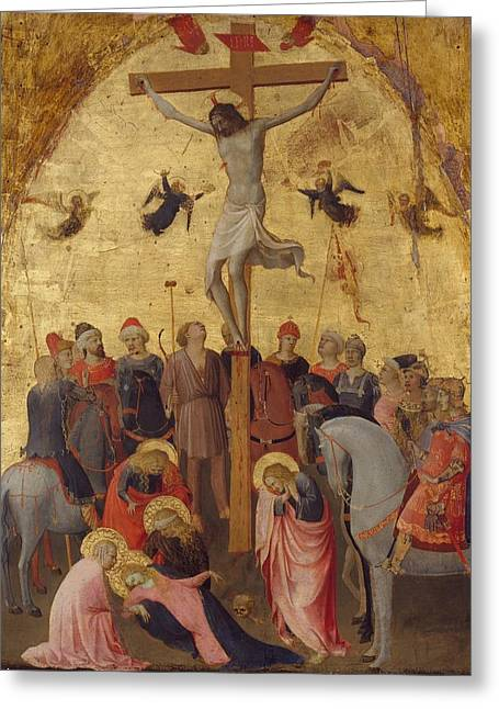 1420 Greeting Cards - The Crucifixion Greeting Card by Fra Angelico