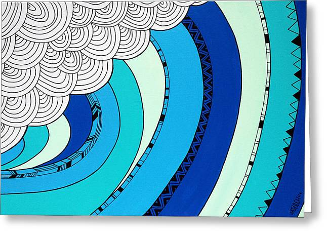 Susan Greeting Cards - The Curl Greeting Card by Susan Claire