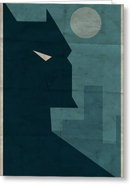 Book Greeting Cards - The Dark Knight Greeting Card by Michael Myers