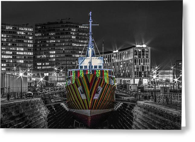 Dazzled Greeting Cards - The Dazzle Ship Greeting Card by Paul Madden