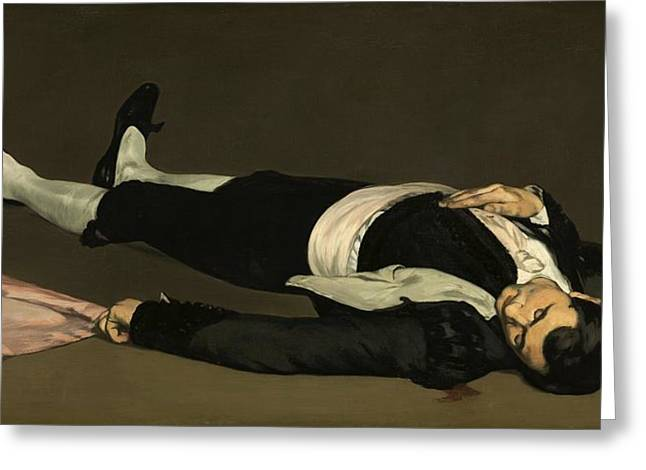 Toreador Paintings Greeting Cards - The Dead Toreador Greeting Card by Edouard Manet
