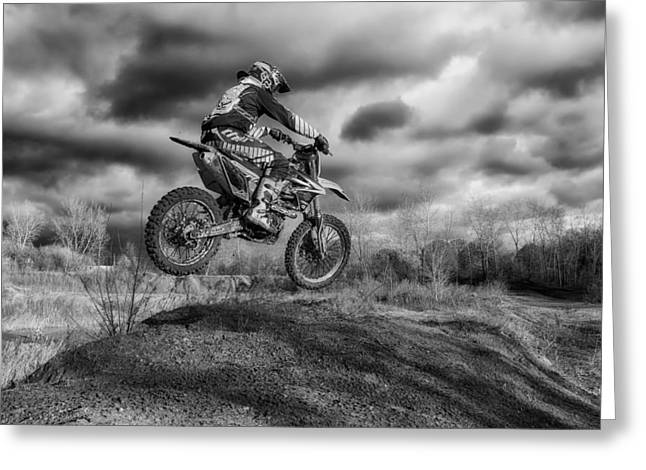 Daredevil Greeting Cards - The Dirt Biker Greeting Card by Mountain Dreams