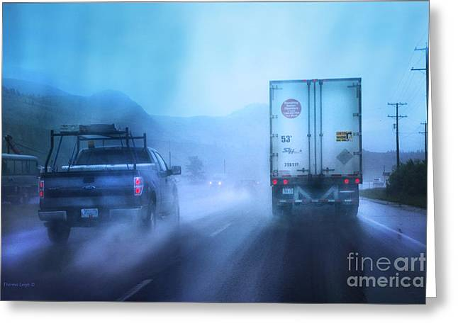Kamloops Greeting Cards - The Drive Home Greeting Card by Theresa Tahara