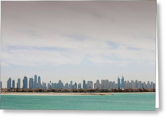 The Dubai Skyline Greeting Card by Ashley Cooper