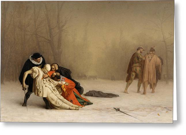 Gerome Greeting Cards - The Duel after the Masquerade Greeting Card by Jean-Leon Gerome