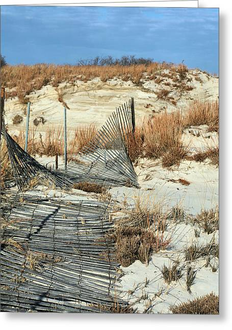 Jones Beach Greeting Cards - The Dunes of Jones Beach Greeting Card by JC Findley
