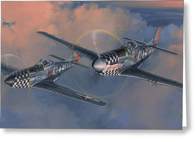P-51 Mustang Greeting Cards - The Duxford Boys Greeting Card by Wade Meyers