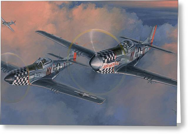 Squadron Greeting Cards - The Duxford Boys Greeting Card by Wade Meyers