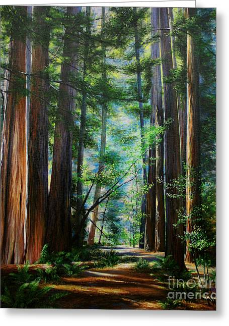 Print On Canvas Greeting Cards - The Elders Greeting Card by Jeanette French