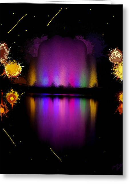 The Electric Fountain Greeting Card by Bruce Nutting