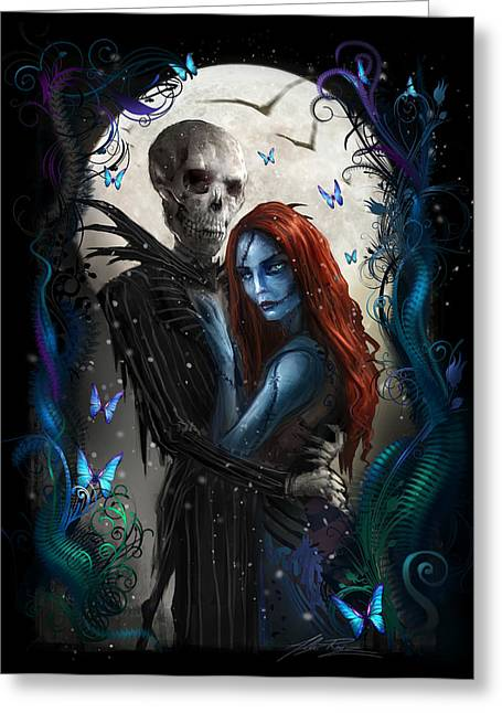 Nightmares Greeting Cards - The Embrace V2 Greeting Card by Alex Ruiz
