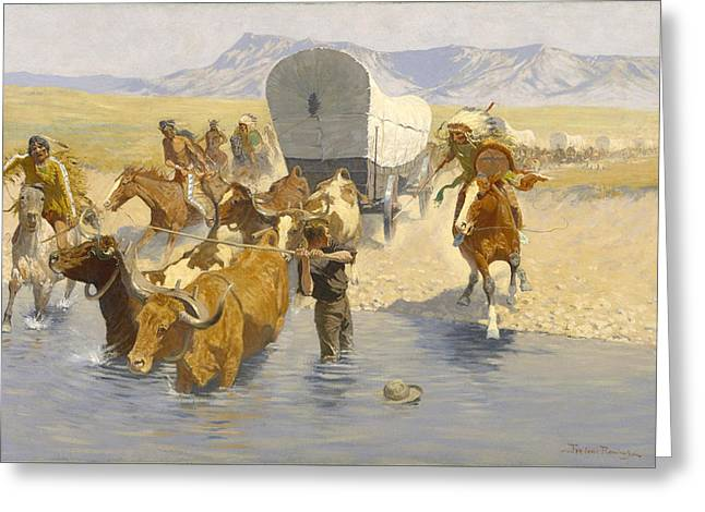 Remington Greeting Cards - The Emigrants Greeting Card by Frederic Remington
