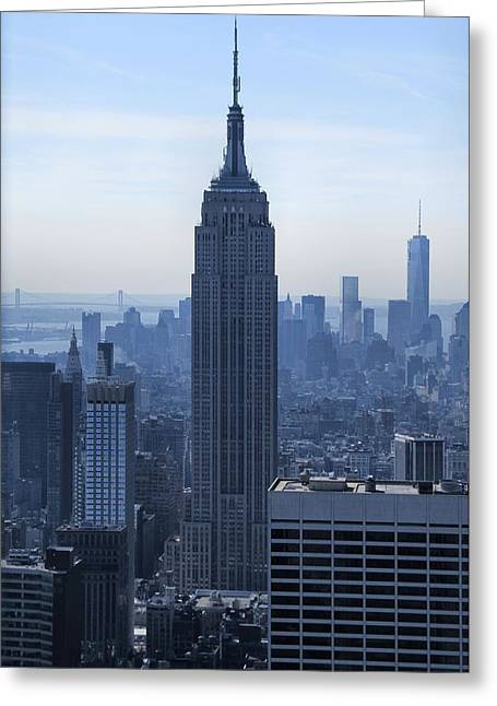 The Empire State Building Greeting Card by Dan Sproul