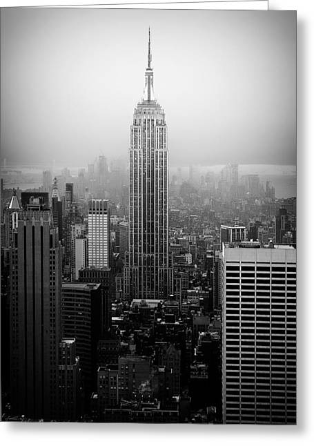 Top Seller Greeting Cards - The Empire State Building in New York City Greeting Card by Ilker Goksen