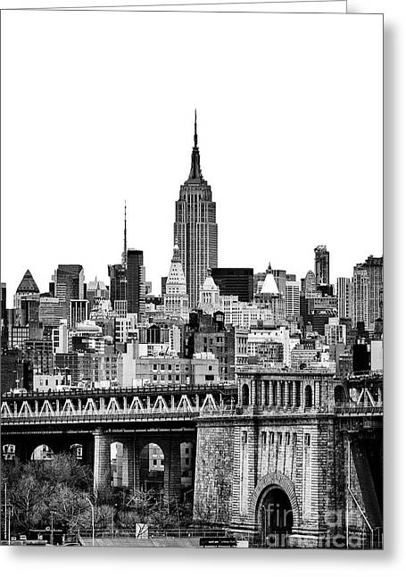New York Canvas Photographs Greeting Cards - The Empire State Building Greeting Card by John Farnan