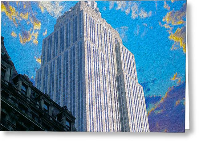 The Empire State Building Greeting Card by Jon Neidert