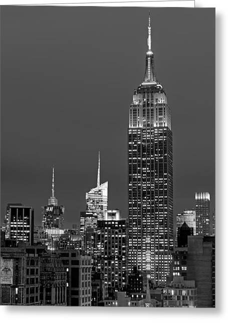 Flatiron Building Greeting Cards - The Empire State Building Greeting Card by Susan Candelario