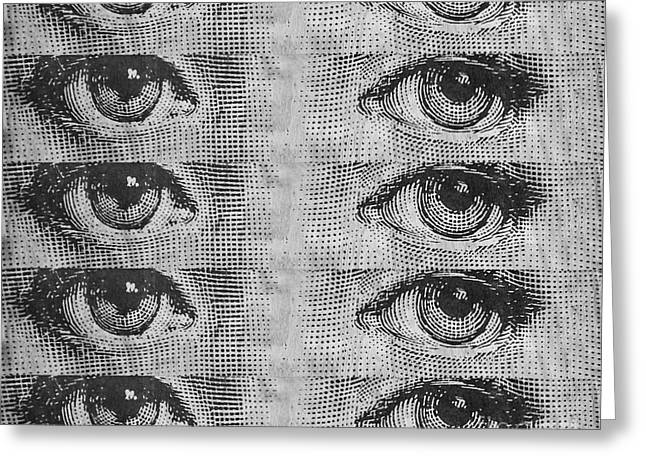Black Mass Greeting Cards - The Eyes Have It Greeting Card by Edward Fielding
