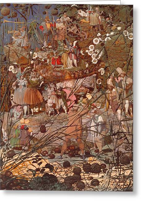 Fabled Greeting Cards - The Fairy Fellers Master Stroke Greeting Card by Richard Dadd