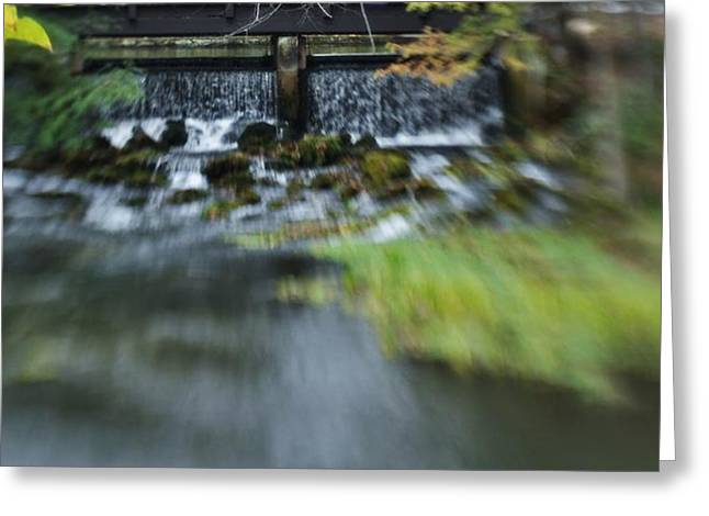 Fishing Creek Digital Greeting Cards - The Falls Greeting Card by Shawn Wood