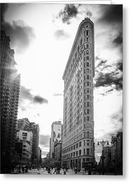 Gotham City Greeting Cards - The Famous Flatiron Building - New York City Greeting Card by Erin Cadigan