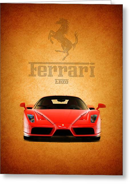 Red Ferrari Greeting Cards - The Ferrari Enzo Greeting Card by Mark Rogan