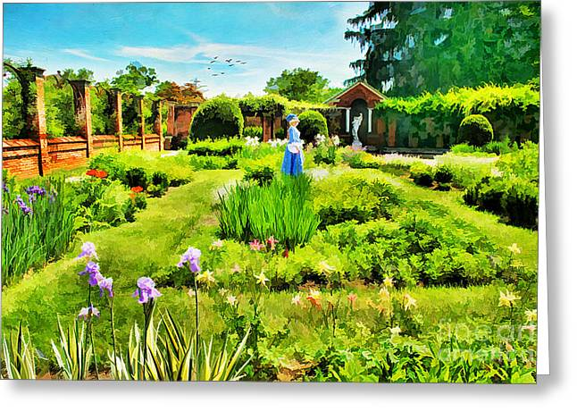 Iris Digital Art Greeting Cards - The Flower Garden Greeting Card by Darren Fisher