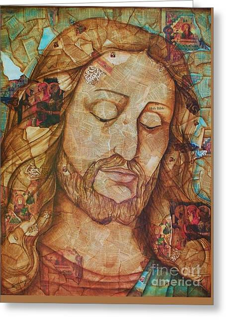 Religious Mixed Media Greeting Cards - The Forsaken Son Greeting Card by Joseph Sonday