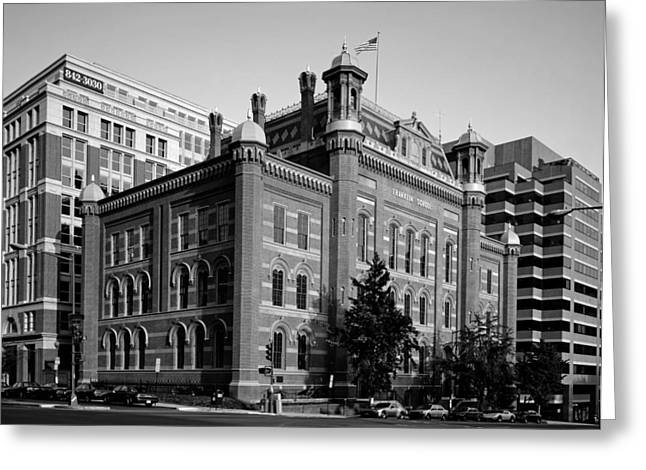 The Franklin School - Washington Dc Greeting Card by Mountain Dreams