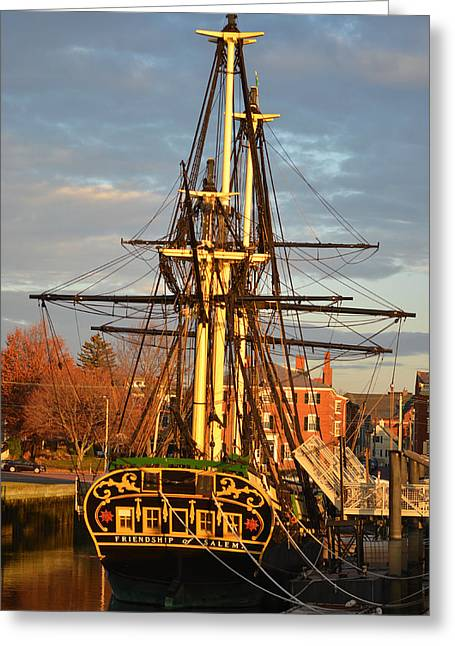 Masts Greeting Cards - The Friendship of Salem Greeting Card by Toby McGuire