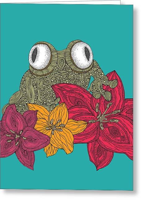The Frog Greeting Card by Valentina Ramos