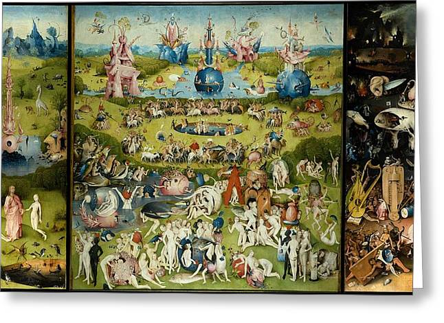 The Garden Of Earthly Delights Greeting Card by Hieronymus Bosch