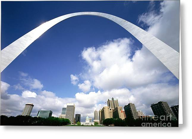 Jefferson National Expansion Memorial Greeting Cards - The Gateway Arch, St. Louis, Missouri Greeting Card by Rafael Macia