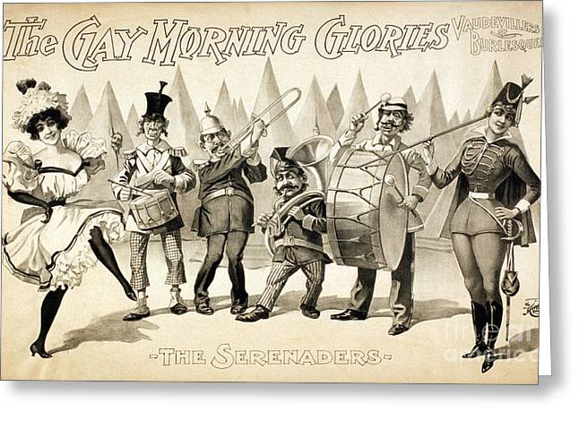 Marching Band Greeting Cards - The Gay Morning Glories, 1898 Greeting Card by Photo Researchers