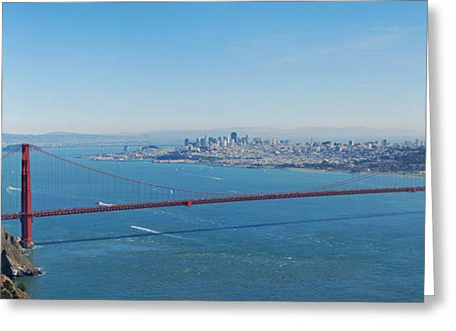 Sausalito Greeting Cards - The Golden Gate Bridge Greeting Card by Twenty Two North Photography