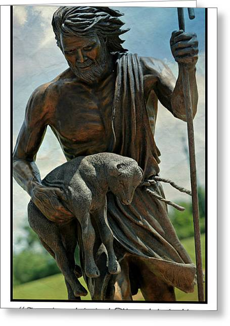 Engraving Greeting Cards - The Good Shepherd Greeting Card by Stephen Stookey
