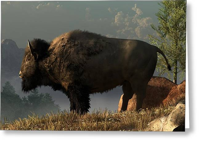 The Great American Bison Greeting Card by Daniel Eskridge