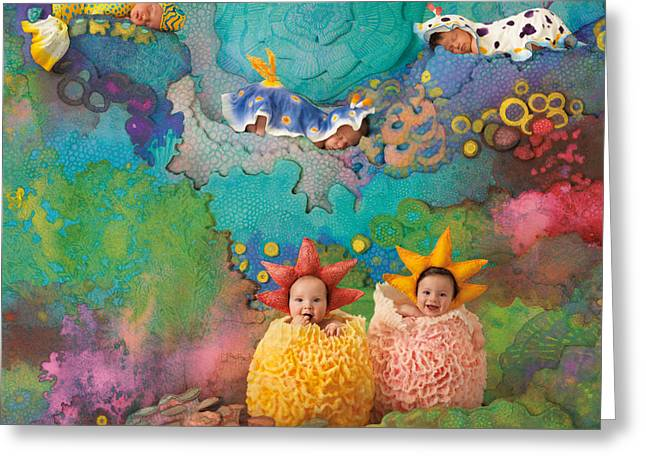 Cute Greeting Cards - The Great Barrier Reef Greeting Card by Anne Geddes
