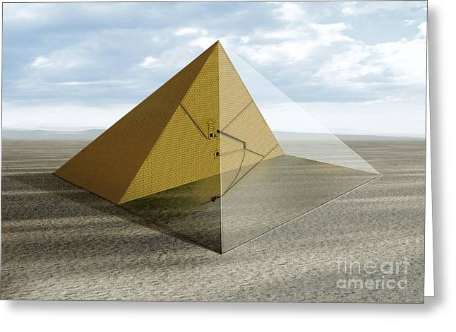The Great Pyramid, Egypt Greeting Card by Claus Lunau