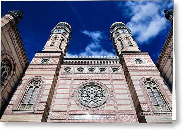 Church Synagogue Greeting Cards - The Great Synagogue in Budapest Greeting Card by Michal Bednarek