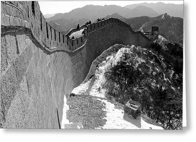 The Great Wall Of China Greeting Card by Sebastian Musial